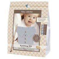 Go Handmade Knitting Crochet Kit Baby Cardigan - Light Grey